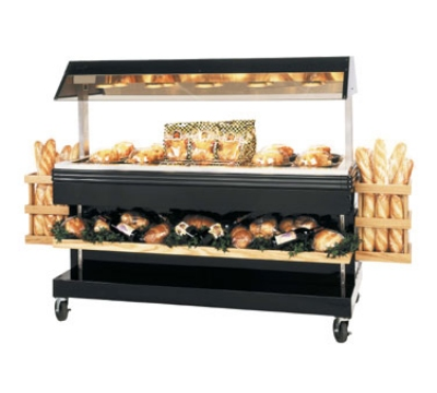 BKI MM-6 120 68.87-in Mobile Heat Display Merchandiser w/ 6-in Well, Holds 36-Chicken, 120 V