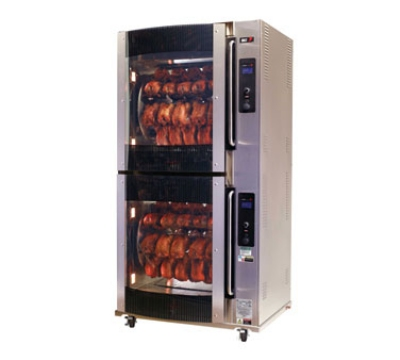 BKI VGG-16-C-PT 2403 2-Deck Pass-Thru Rotisserie Oven, (80) 3-lb Bird Capacity, Curved Glass, 240/3 V