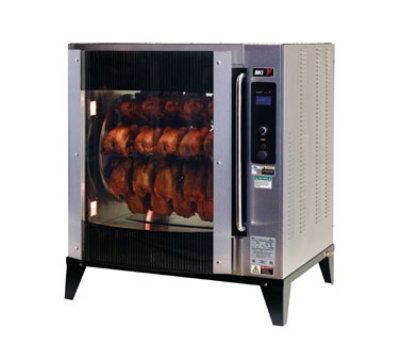 BKI VGG-8-C 2083 1-Deck Pass-Thru Rotisserie Oven, (40) 3-lb Bird Capacity, Flat Glass, 208/3 V