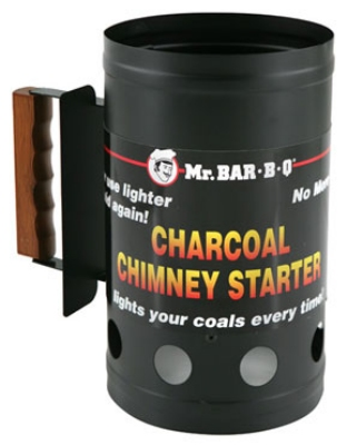Chef Master / Mr. Bar B Q 02102 Charcoal Chimney BBQ Starter,