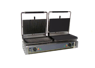 Equipex DIABLO GS Panini Grill w/ Grooved Left and Smooth Right, 208/2