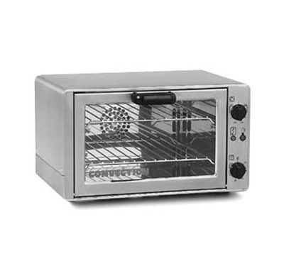 Equipex FC-26 Countertop Single Deck Convection Oven w/ 2 Wire Racks, Bake Pan, 208/240V