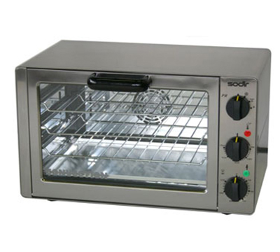 Equipex FC-33/1 Single Deck Countertop Oven Broiler w/ 3 Wire Racks, Bake Pan, 120 V