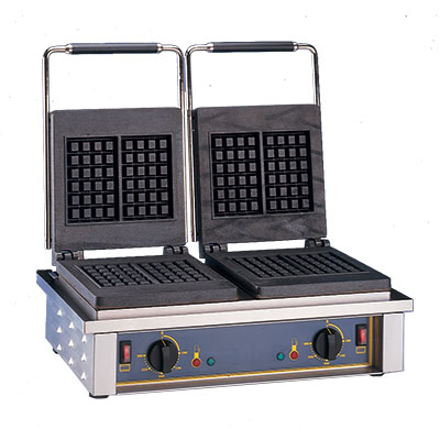 Equipex GED Double Waffle Baker w/ Cast Iron Plates, Thermostatic, 208/240/1 V