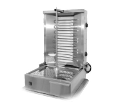 Equipex GR 60E 55-lb Gyro Grill w/ 2-Independent Control Zones, 4-Heat Element, 208/240V