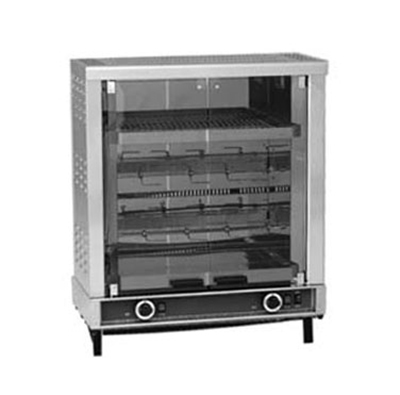 Equipex RBE-8/1 Infrared Rotisserie Roaster Warmer w/ 2-Spit, 6-8, 10 Display, 208/240/1V