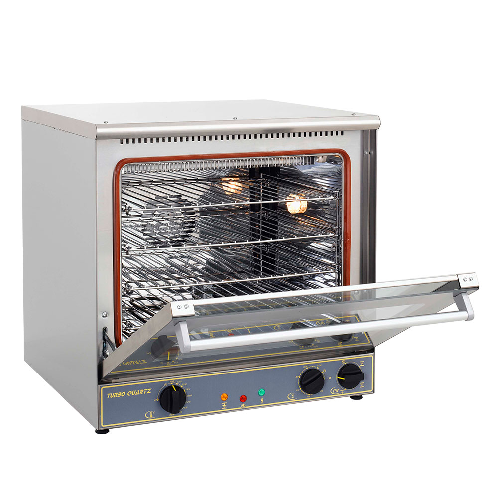 Equipex FC60G Single Deck Countertop Convection Oven/Broiler - Half Size, Stainless, 208/240v