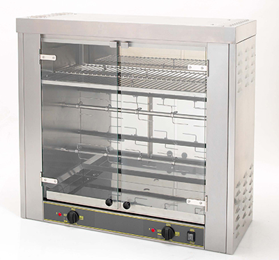 Equipex RBE-8 Infrared Rotisserie Roaster Warmer w/ 2-Spit, 6-8, 10 Display, 208/240/3V