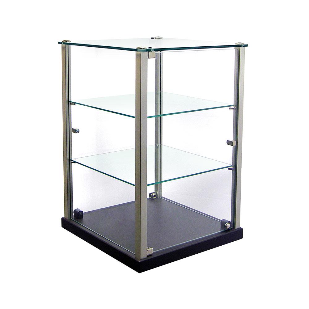"Equipex TP353 Enclosed Pass-Thru Display w/ 2-Glass Vertical Door, 14x14x 20.75"""