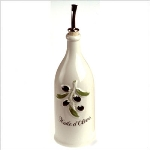 Revol 615673 Porcelain Olive Oil Bottle w/ 26.5-oz Capacity, Cream