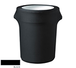 Snap Drape CCTCC32 BLK 32-Gallon Trash Can Cover, Snug Fit, Poly/Spandex, Black