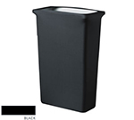 Snap Drape CCTCCSJ BLK Slim Jim Trash Can Cover, Snug Fit, Poly/Spandex, Black
