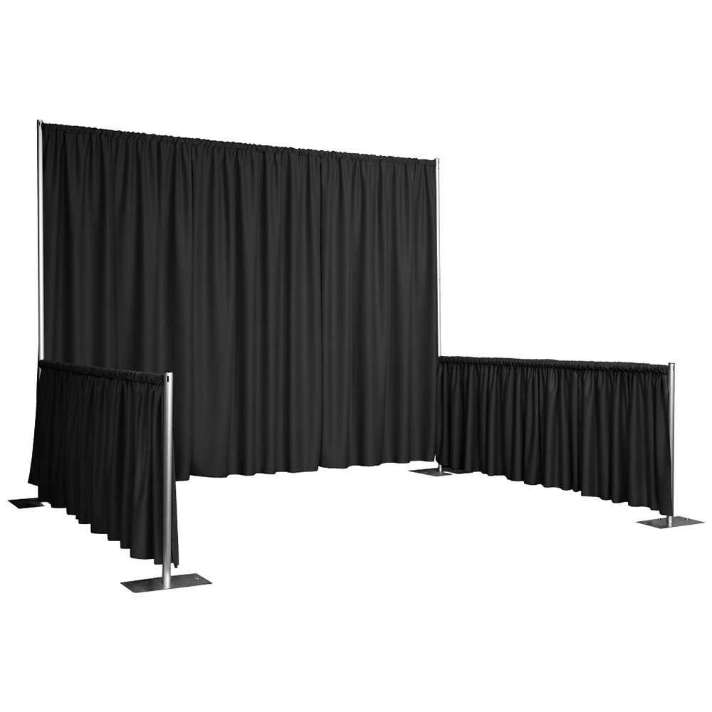 Snap Drape RPBDMAR60119 BLK 119-in Marquis Backdrop w/ 4.5-in Top Rod Pockets, Black
