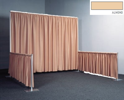 Snap Drape RPBDSEQ6095 ALM 95-in Sequel Backdrop w/ 4.5-in Top Rod Pockets, Almond