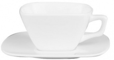 Mayfair 116 3.5-oz Square Porcelain Espresso Cup, White