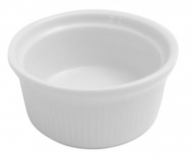 Mayfair 206 3-oz Porcelain Ramekin, 3-in, White
