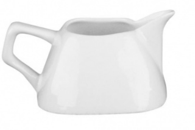 Mayfair 252 7-oz Porcelain Bloc Creamer, White