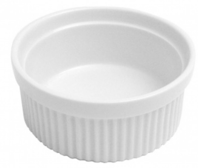 Mayfair 337 8-oz Porcelain Souffle, 4.75 x 1.75-in, White