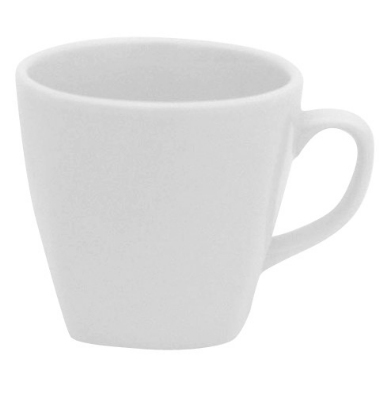 Mayfair 501 8-oz Porcelain Deco Coffee Tea Cup, White