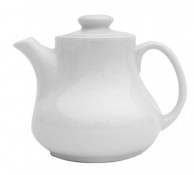 Mayfair 521 16-oz Porcelain Vidura Tea Pot, White