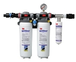 3M Water Filtration 5624102 DP390 Manifold Filter System w/ Shut Off Valve, For BEV & ICE, 0.2-Micron