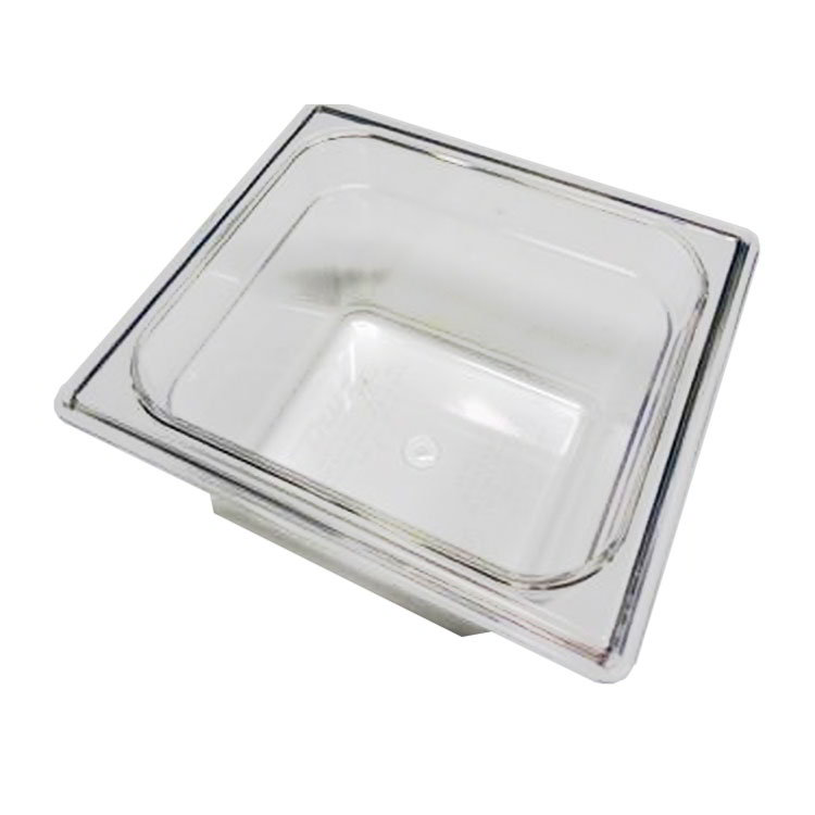 True 810292 Food Storage Pan, 1/6 Size, 6-7/8 x 6-5/16 x 3-4/5 Inch