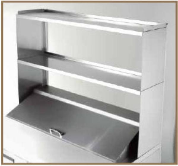 True 915703 Double Utility Shelf, 60-1/4 in x 16 in x 33 in H, For