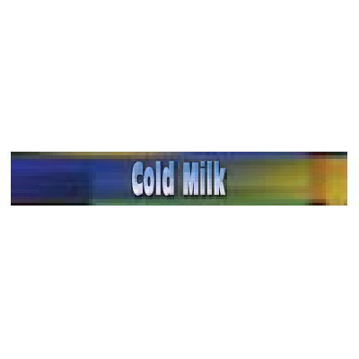 True 883967 Sign, Cold Milk, Blue & Green, for GDM26