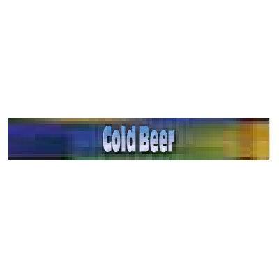 True 884073 Sign Cold Beer Blue & Green Restaurant Supply