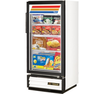 "True GDM-10F-LD 25"" Freezer Merchandiser - 1-Door, 3-Shelf, LED, 10 cu ft, Black"