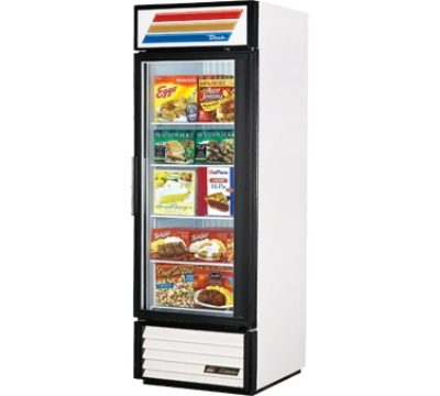 True GDM-23F CHER Freezer Glass Door Merchandiser, Cherry, 23-cu ft