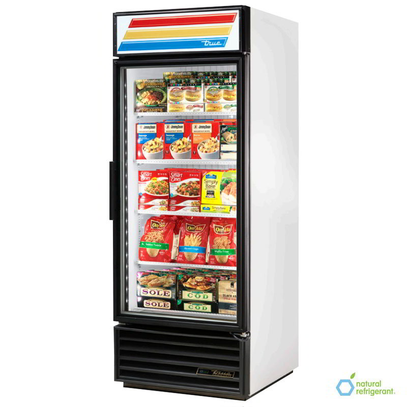 "True GDM-26-LD 30"" Refrigerated Merchandiser - 1-Door, 4-Shelf, 26 cu ft, LED, White"