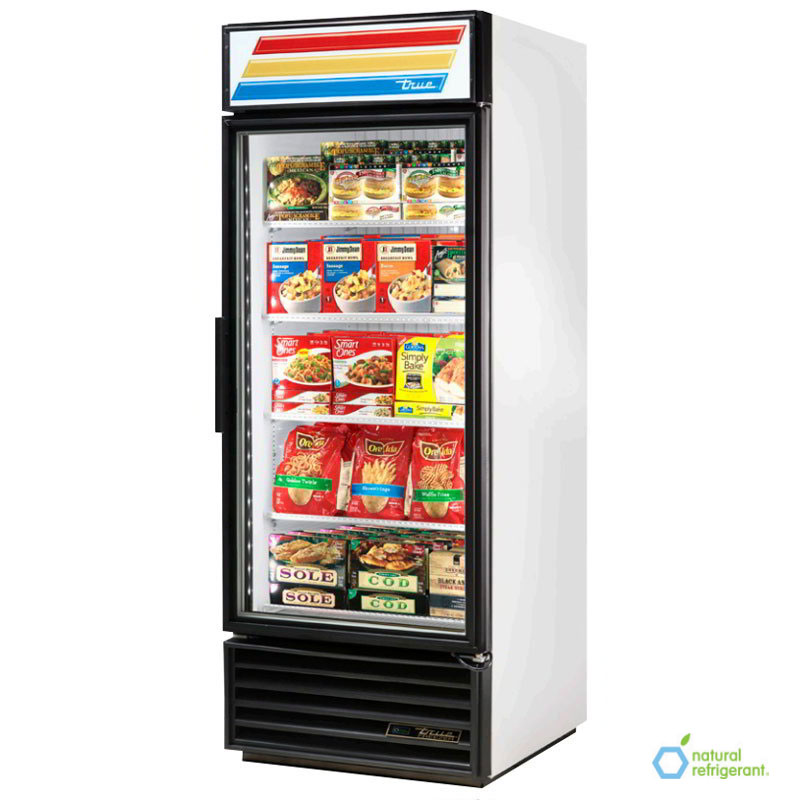 "True GDM-26F-LD 30"" Freezer Merchandiser - 1-Door, 4-Shelf, LED, 26 cu ft, Black"