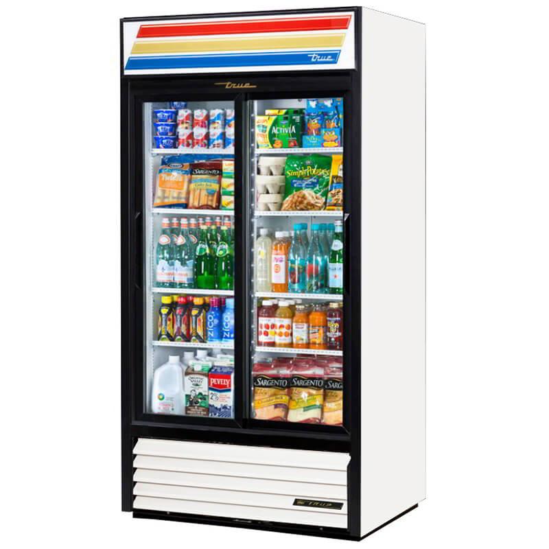 TRUE Refrigeration GDM-33BLK Glass Sliding Door Refrigerated Merchandiser Black 33-cu ft Restaurant Supply