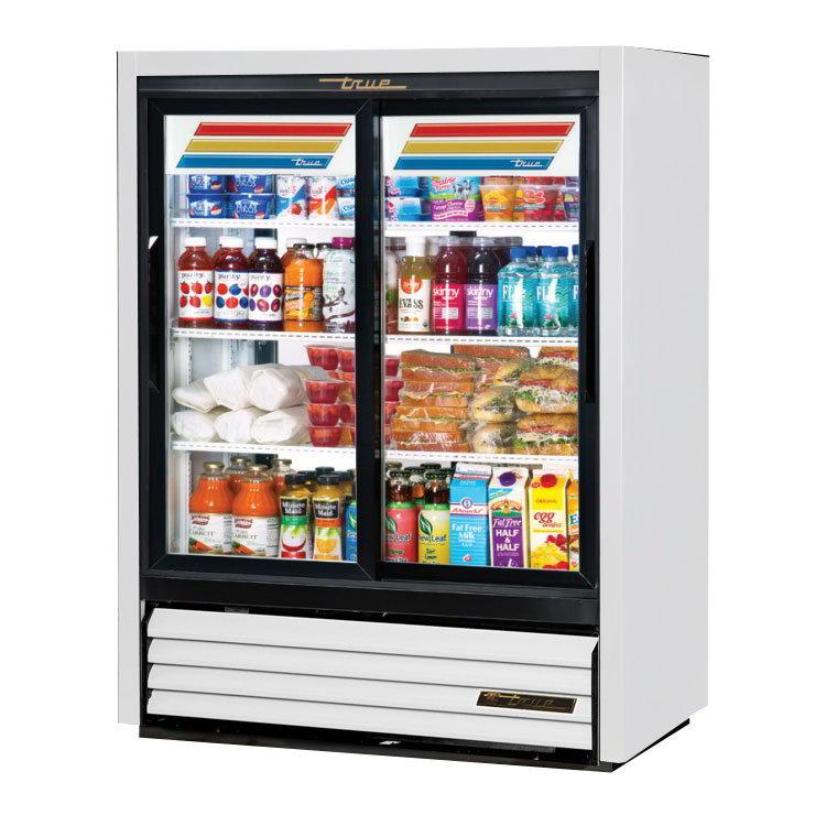 TRUE Refrigeration GDM-33C-PT-54 Pass Thru Convenience Store Cooler Glass Sliding Doors 15-cu ft Restaurant Supply