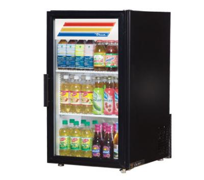 "True GDM-6-LD 20.38"" Countertop Refrigeration w/ Front Access - Swing Door, Black, 115v"