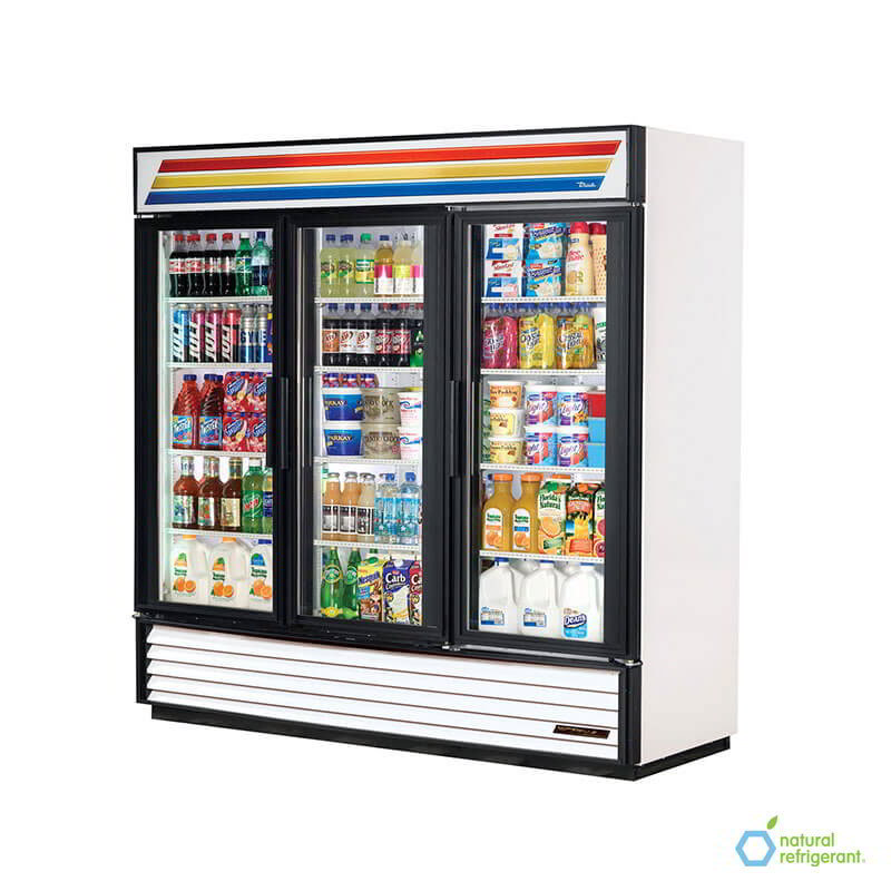 "True GDM-72-LD 80"" Refrigerated Mercha"