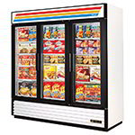 GDM-72F Freezer Merchandiser, 3 Sec/Glass Swing Drs, 12 Shelves, -10 F, 72 cu ft