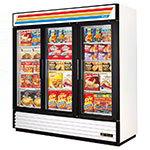 GDM-72F Freezer Merchandiser, 3 Sec/Glass Swing Drs, 12 Shelves, -10 F, 72 cu ft