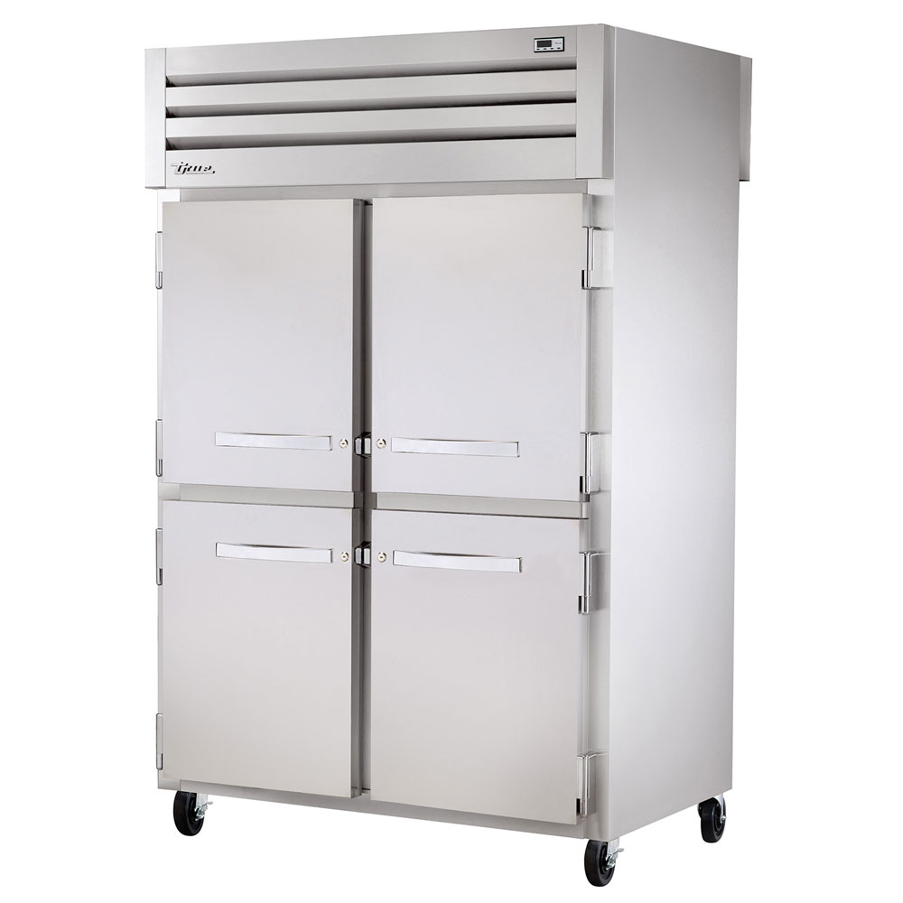 """True STA2F-4HS 52.63"""" Two Section Reach-In Freezer, (4) Solid Door, 115v"""