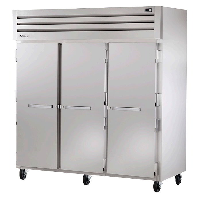 """True STG3F-3S 77.75"""" Three Section Reach-In Freezer, (3) Solid Doors, 208v/1ph"""