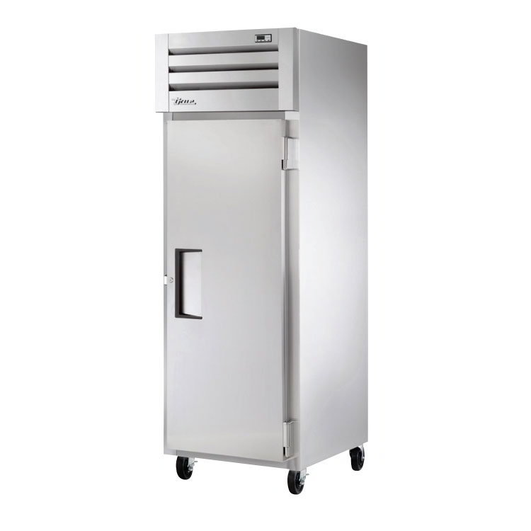 "True STM1F-1S 27-1/2"" Reach-In Freezer - 1-Section, Solid Full Door, Stainless/Aluminum 115v"