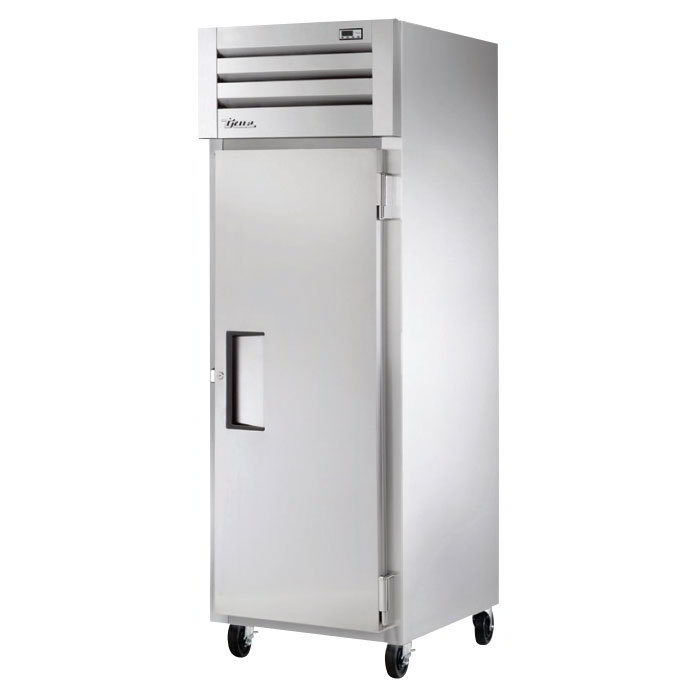 "True STM1R-1S 27"" Reach-In Refrigerator - 1-Solid Door, Stainless/Aluminum"