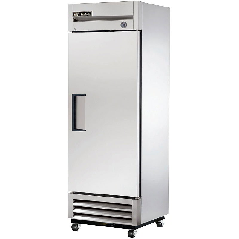 "True T-19F LH 27"" Reach-In Freezer - 1-Section, Solid Full Door, Stainless/Aluminum 115v"