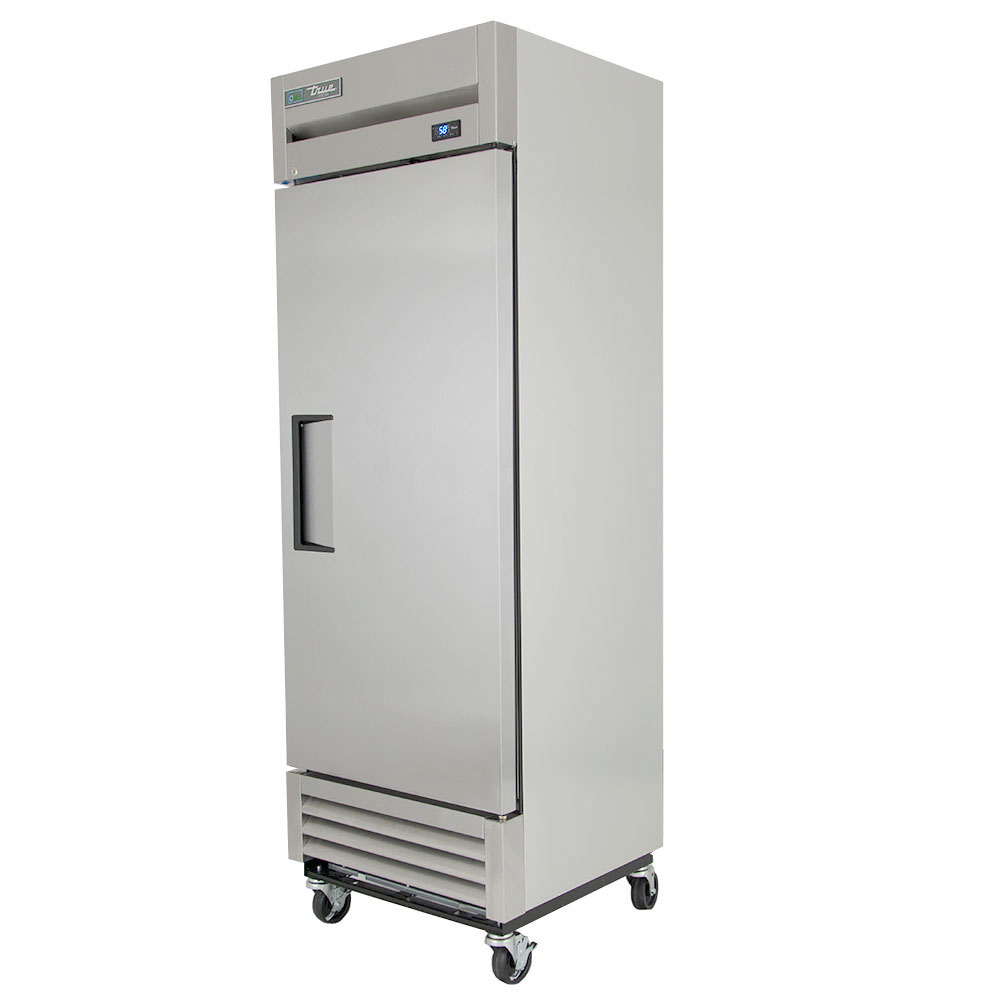 "True T-19FZ LH 27"" Reach-In Zero Degree Freezer - 1-Left Hinged Solid Door, Shallow, Stainless/Aluminum"