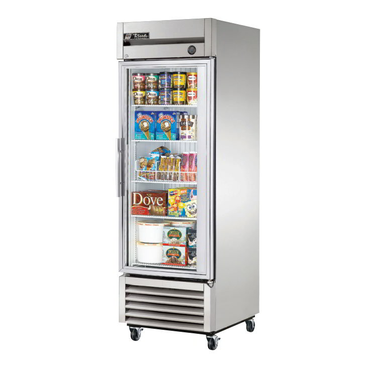 True T-23FG Reach In Freezer w/ Glass Door 23 cu ft Restaurant Supply