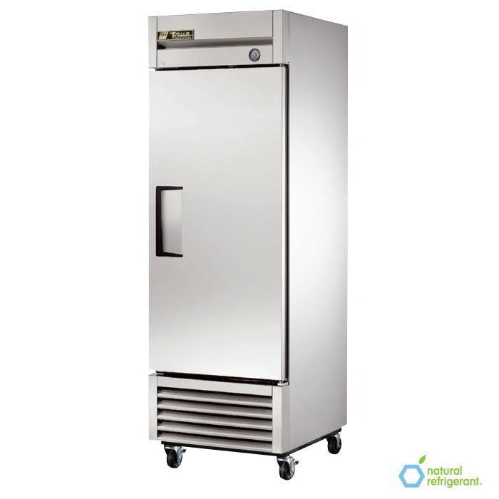 "True T-23F LH 27"" Reach-In Freezer - 1-Left Hinged Solid Door, Stainless/Aluminum"