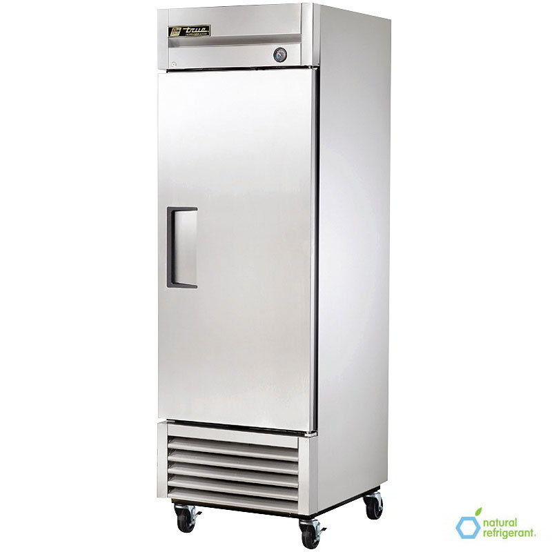 "True T-23 LH 27"" Reach-In Refrigerator - 1-Left Hinged Solid Door, Stainless/Aluminum"