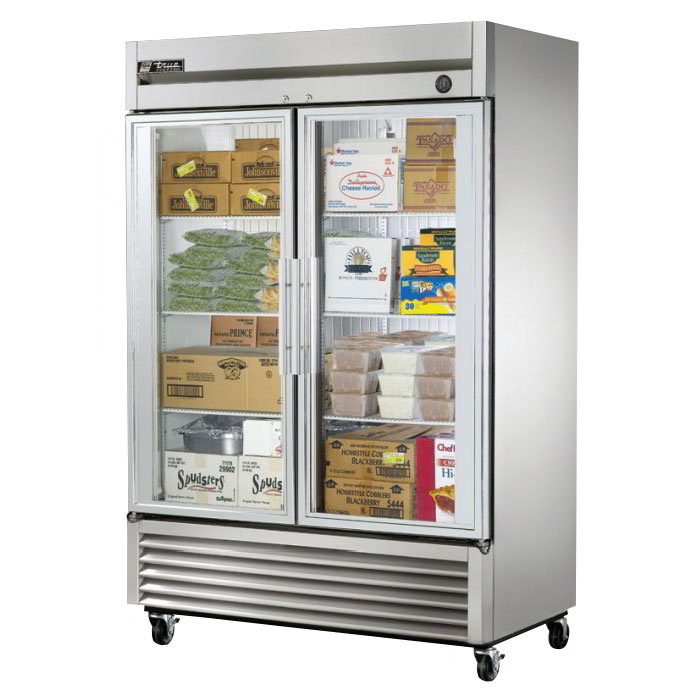 True T-49FG 2-Section Reach In Freezer w/ Glass Doors 49 cu ft Restaurant Supply
