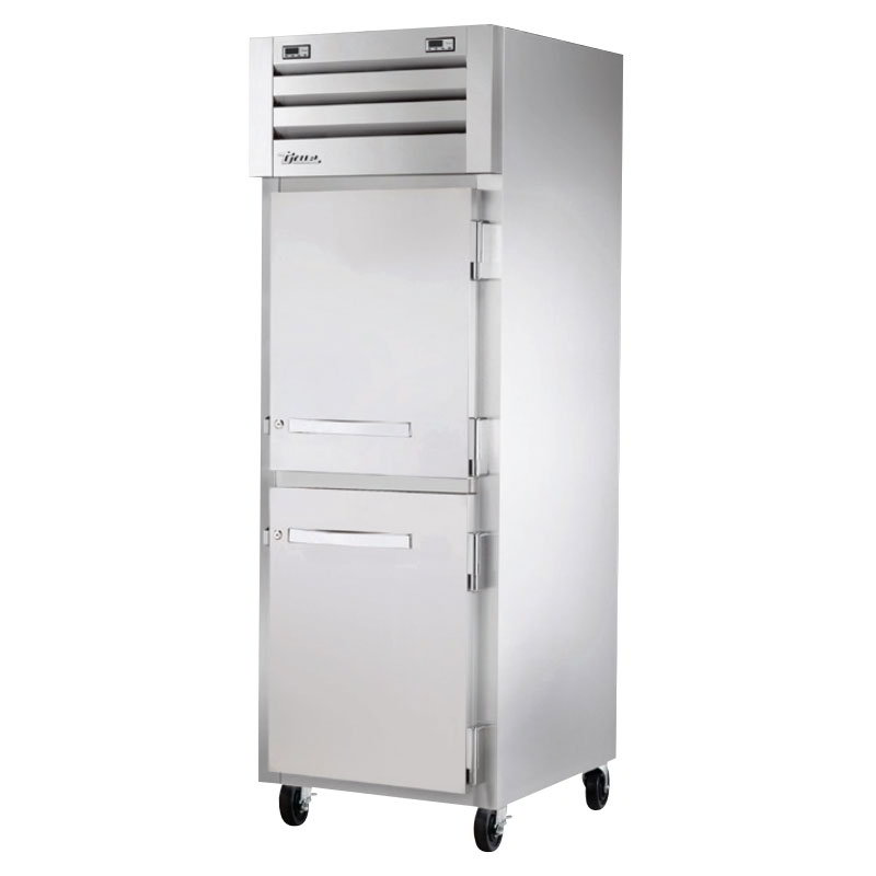 "True STA1DT-2HS 27-1/2"" Reach-In Refrigerator/Freezer - 1-Section, 2-Solid Half Doors 115v"
